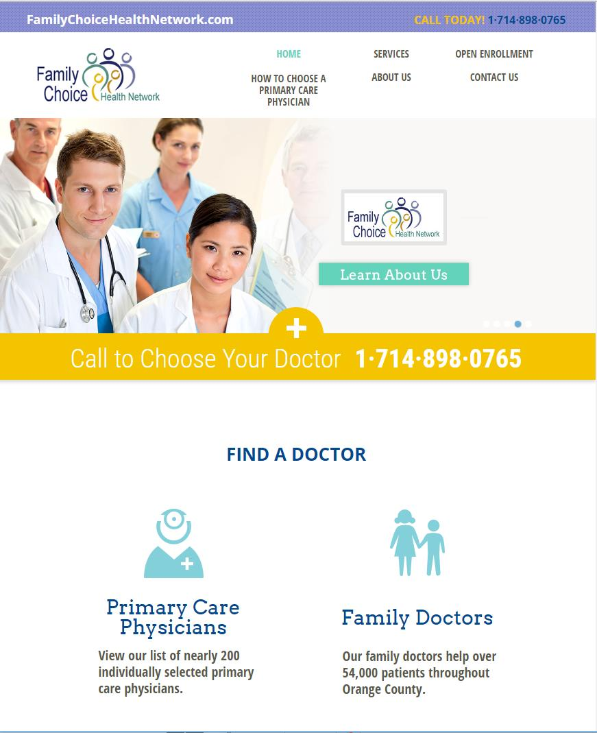 Family Choice Helath Network website