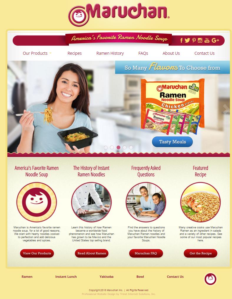 Maruchan website