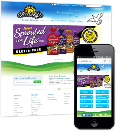 Screenshot of Food for Life webpage.