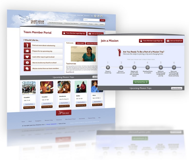 Quiet Hour Ministries website