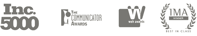 Inc. 5000, The Communicator Awards, Web Awards, IMA Winner