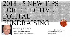 2018 - 5 New Tips for Effective Digital Fundraising