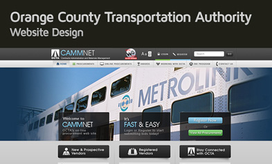 Orange County Transportation Authority Website Design