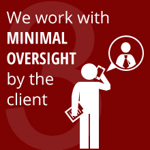 We work work with MINIMAL OVERSIGHT by the client