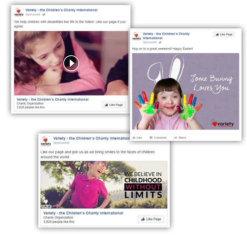 Screenshot of Variety's Facebook posts.