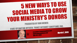5 New Ways to Use Social Media to Grow Your Ministry's Donors
