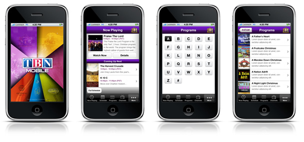 TBN mobile iphone app